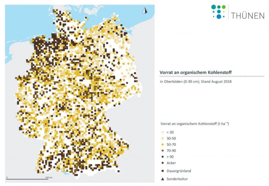 Kohlenstoff in Deutschlands Böden